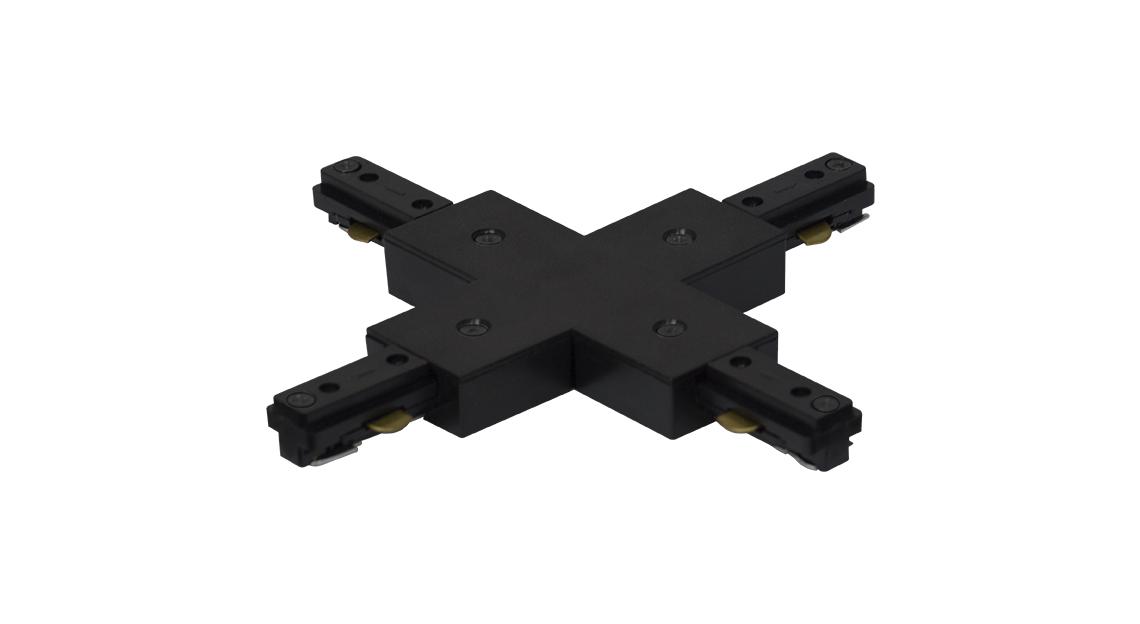 Conector em X na cor preta