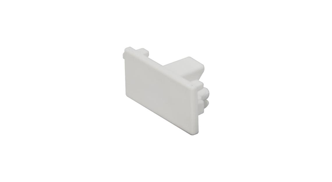 Tampa Para trilho eletrificado 1 circuito na cor branca